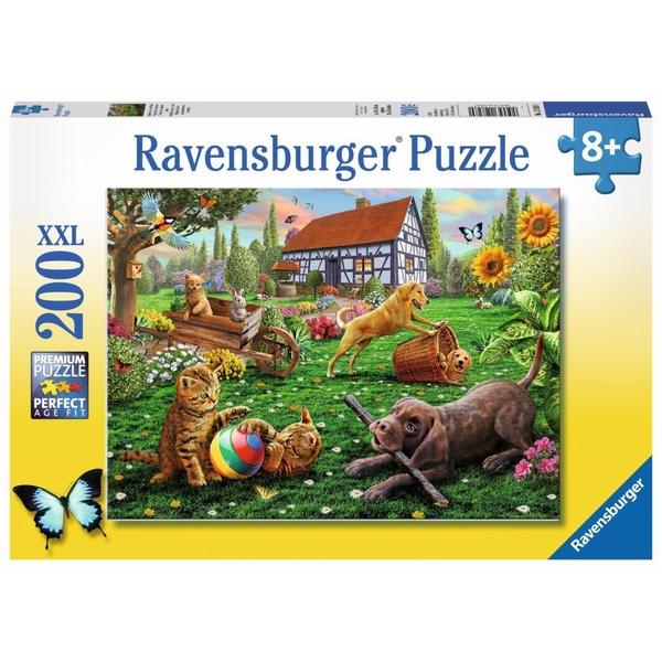 Ravensburger - XXL-Puzzle: Entdecker auf vier Pfoten, 200 Teile