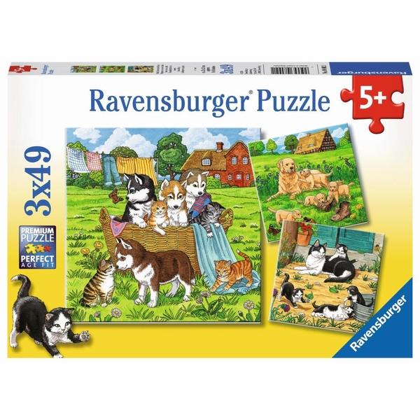 Puzzle Welpe Husky im Garten von 500 Teile Puzzles & Geduldspiele