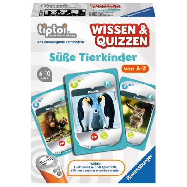 Ravensburger - tiptoi Wissen & Quizzen: Süße Tierkinder