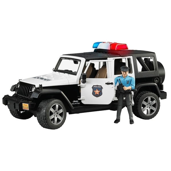 Bruder - Jeep Wrangler Unlimited Rubicon Polizeifahrzeug mit Polizist