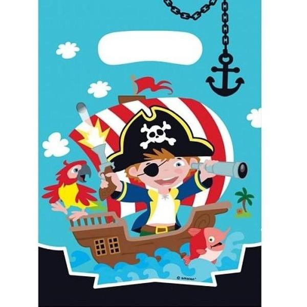 Amscan - Pirat: 8 Partytüten