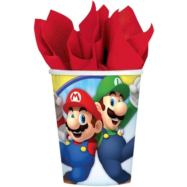 Super Mario - 8 Becher