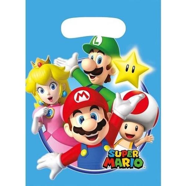 Super Mario - 8 Partytüten