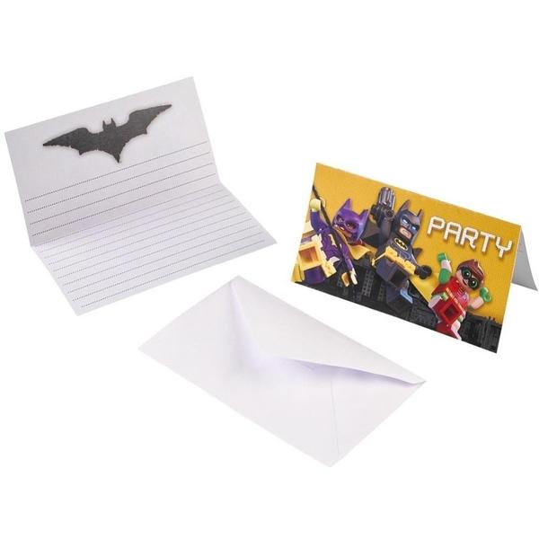 Lego Batman - Einladungskarten