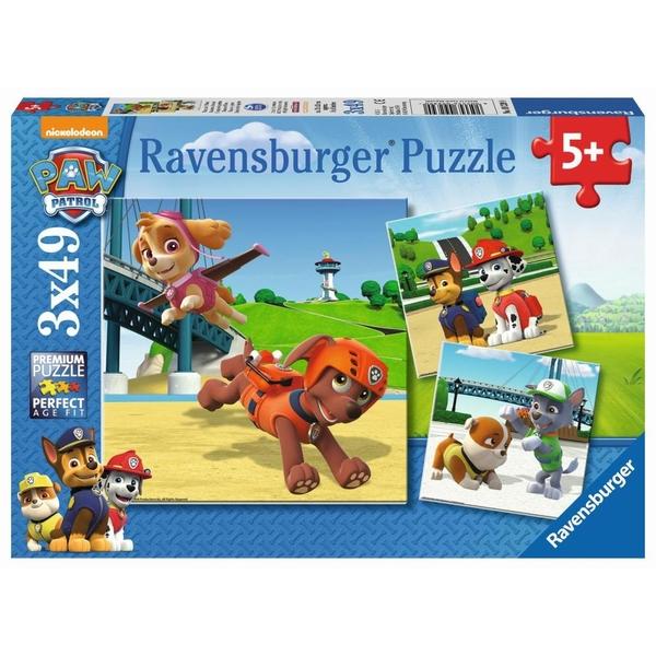 Ravensburger - Puzzle: Paw Patrol, Team auf vier Pfoten, 3x49 Teile