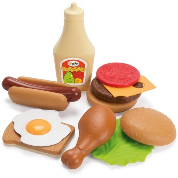 Dantoy - Hotdog- oder Hamburger-Set, sortiert