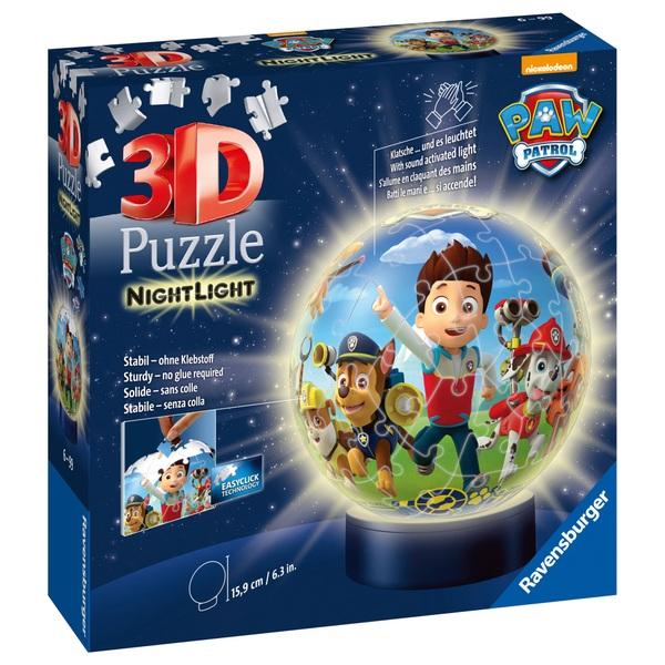 Ravensburger - 3D Puzzleball: Nachtlicht Paw Patrol, 72 Teile