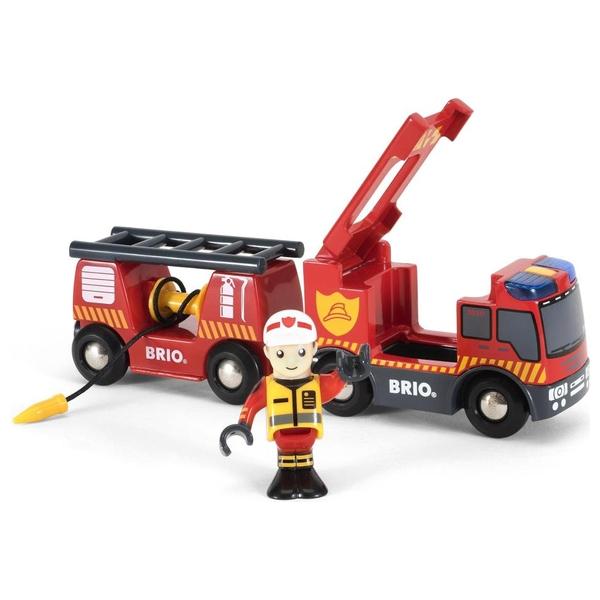 BRIO - Feuerwehr-Leiterfahrzeug mit Licht & Sound