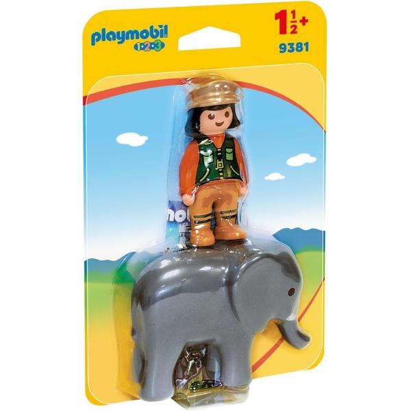 PLAYMOBIL - 9381 Tierpflegerin mit Elefant