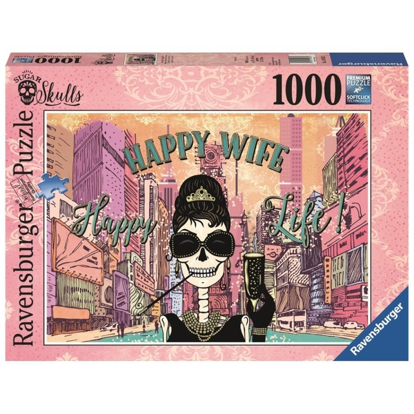 Ravensburger - Puzzle: Happy Wife Happy Life, 1000 Teile