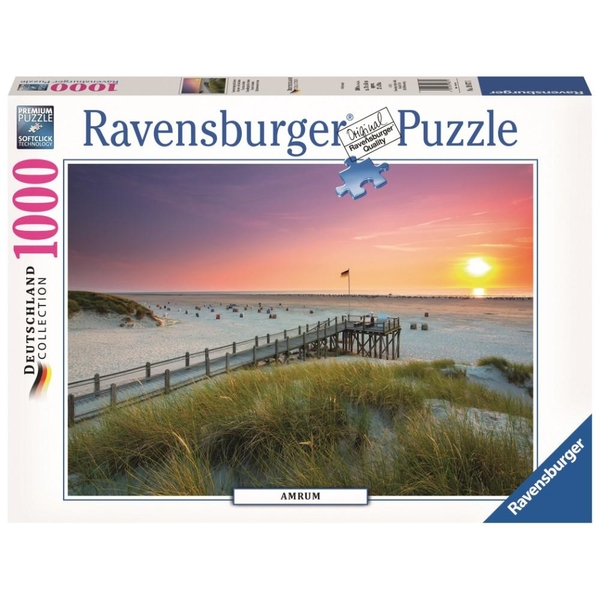 Ravensburger - Puzzle: Sonnenuntergang über Amrum, 1000 Teile