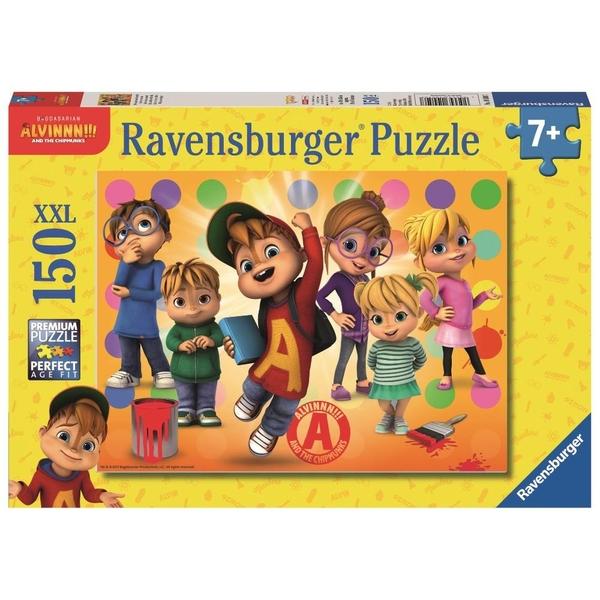 Ravensburger - XXL Puzzle: Alvin und die Chipmunks, Alvin und seine Freunde, 150 Teile