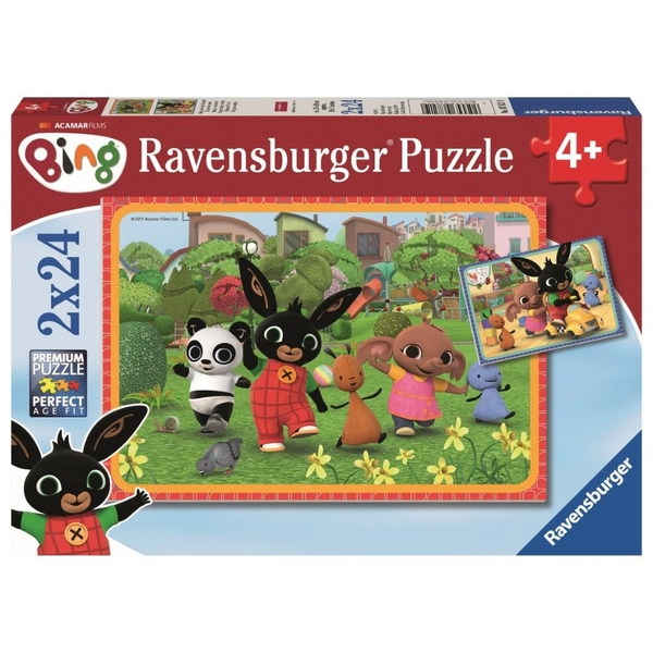 Ravensburger - Puzzle: Bing und seine Freunde, 2x24 Teile