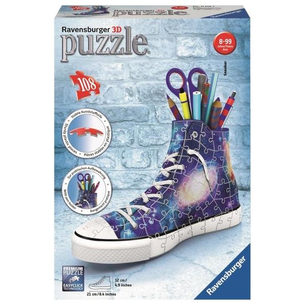 Ravensburger - 3D Puzzle: Galaxy Sneaker, 108 Teile