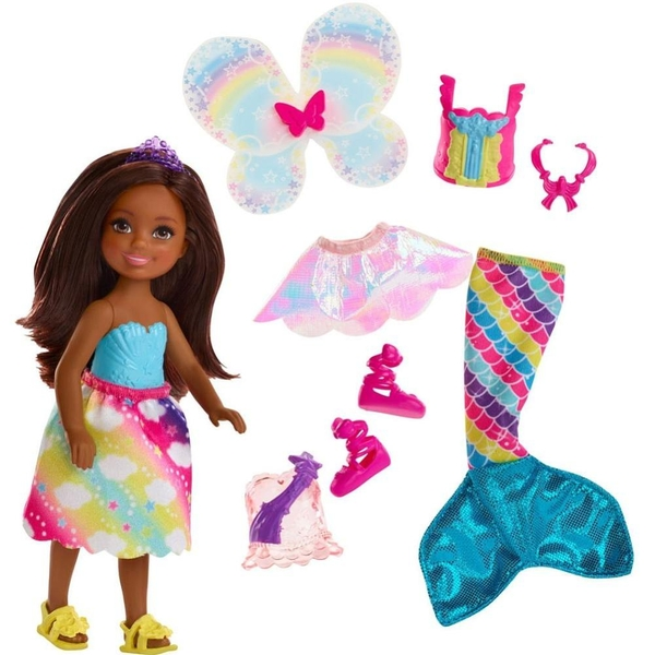 Barbie - Dreamtopia: 3in1 Fantasie Chelsea, brünett