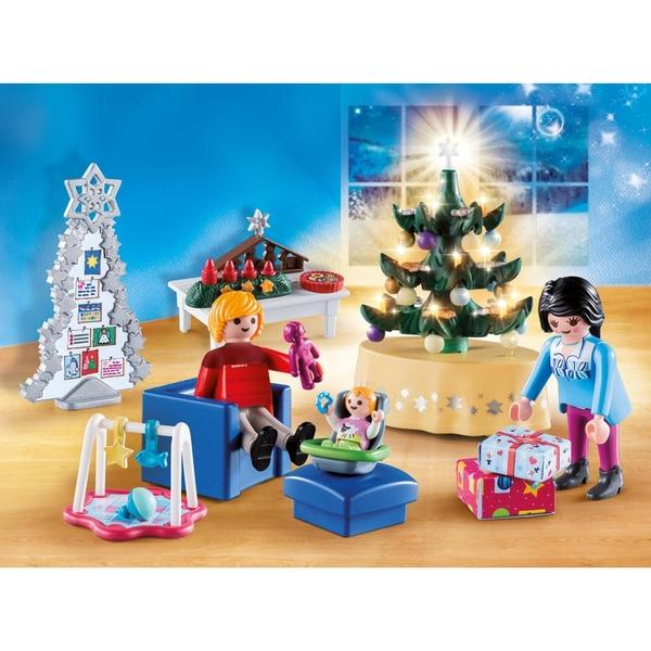 playmobil 9495 weihnachtliches wohnzimmer playmobil