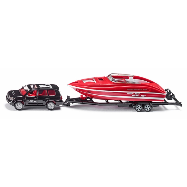 SIKU Super - 2543: PKW mit Motorboot, 1:55