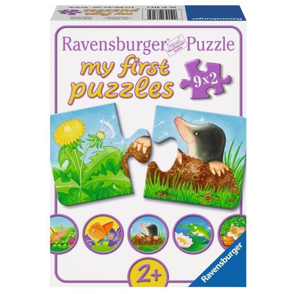 Ravensburger - My First Puzzles: Tiere im Garten, 9x2 Teile