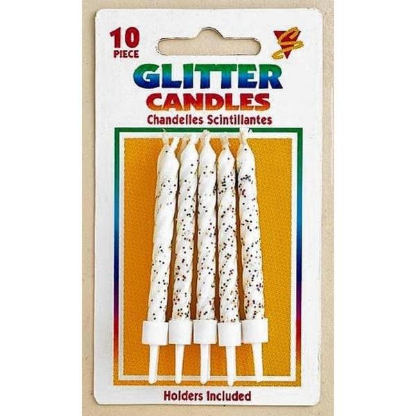 Riethmüller - Kerzen Weiß mit Glitter
