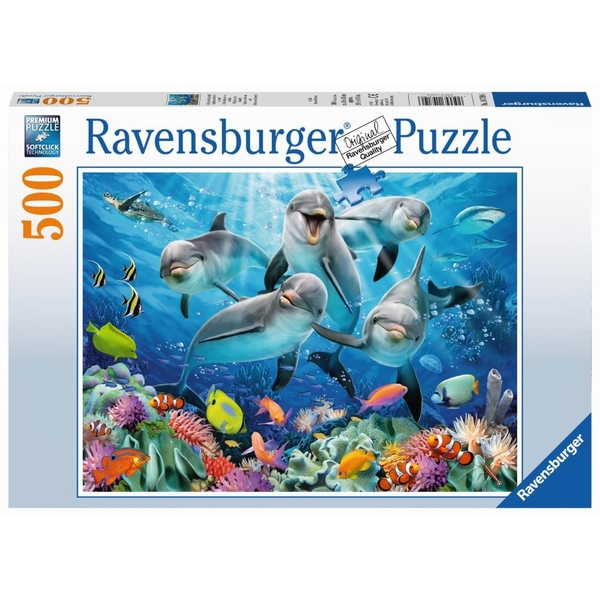 Ravensburger - Puzzle: Delfine im Korallenriff, 500 Teile