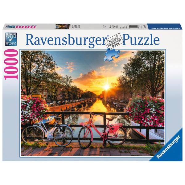 Ravensburger - Puzzle: Fahrräder in Amsterdam, 1000 Teile