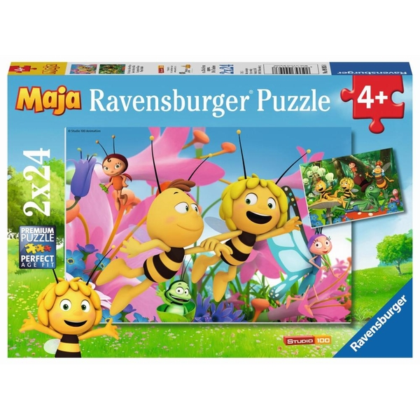 Ravensburger - Puzzle: Biene Maja, Die kleine Biene Maja, 2x24 Teile