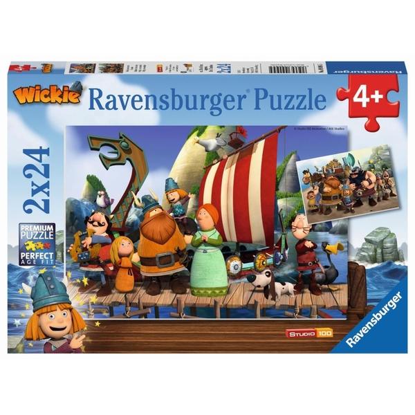 Ravensburger - Puzzle: Wickie und seine Freunde, 2x24 Teile