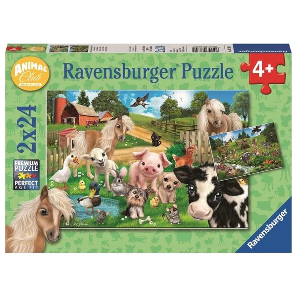 Ravensburger - Puzzle: Tierfreunde, 2x24 Teile