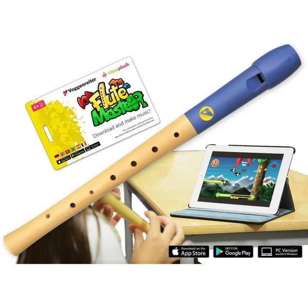 Voggenreiter - Flute Master mit Holz-Kunststoff-Blockflöte
