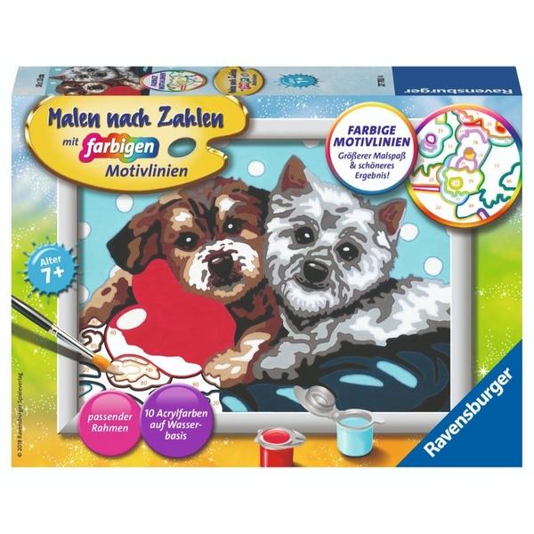 Ravensburger - Malen nach Zahlen: Hundefreundschaft