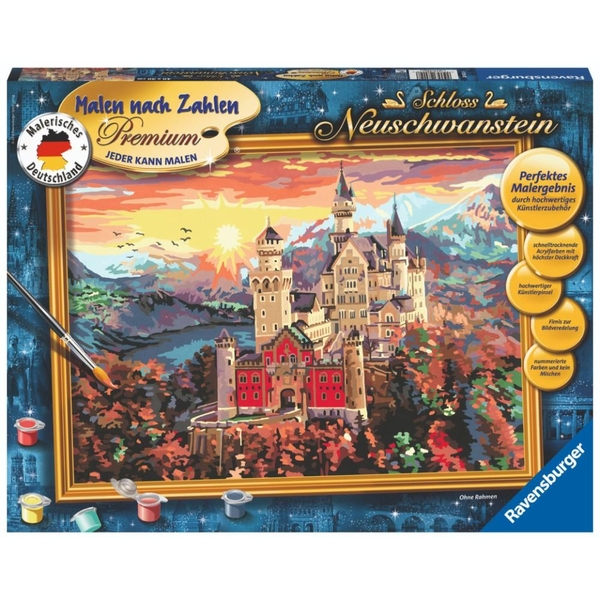 Ravensburger - Malen nach Zahlen Premium: Schloss Neuschwanstein