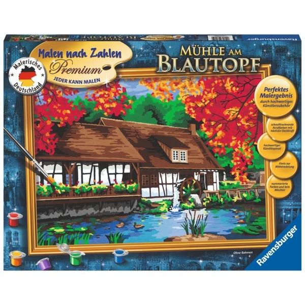 Ravensburger - Malen nach Zahlen Premium: Mühle am Blautopf