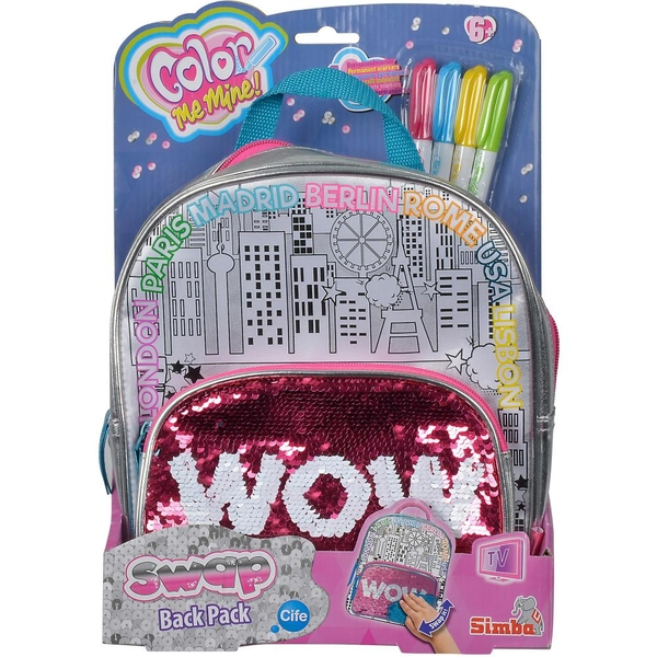 Color Me Mine - Swap Back Pack mit Wendepailletten