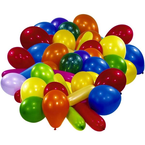 Latexballons im Beutel, sortiert, 30 Stk.