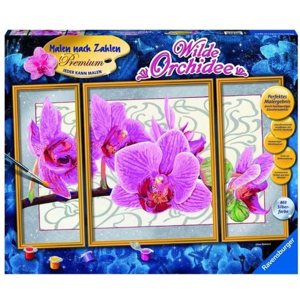 Ravensburger - Malen nach Zahlen Premium: Wilde Orchidee