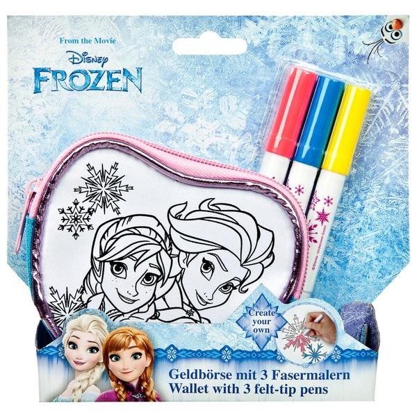 Disney Die Eiskönigin - Create your own, Geldbörse mit 3 Fasermalern
