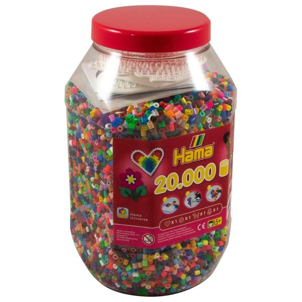 HAMA - Bügelperlen: Midi Dose 20000 Perlen, Deckel rot