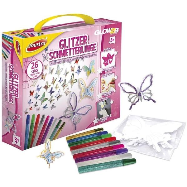 Joustra - Glitzer-Schmetterlinge