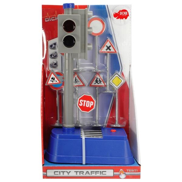 Dickie Toys - Ampel + Verkehrszeichen