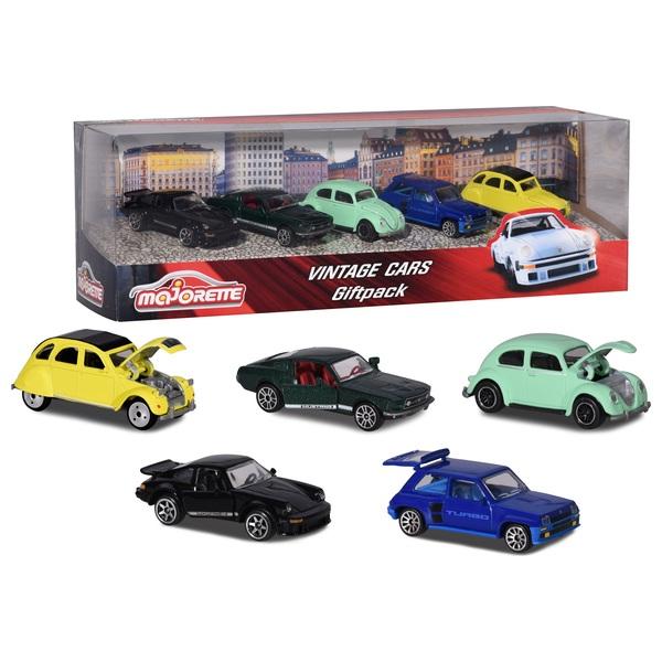 Majorette - Geschenkset: Vintage Fahrzeuge, 5-tlg.
