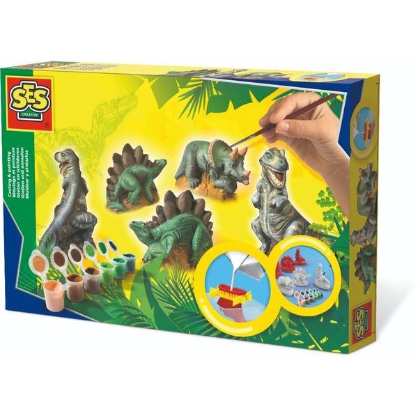 SES - Dinos gießen und anmalen