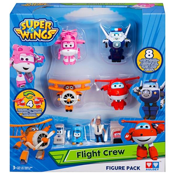 Super Wings - Transform-a-Bots Figurenpack, 8-tlg., sortiert