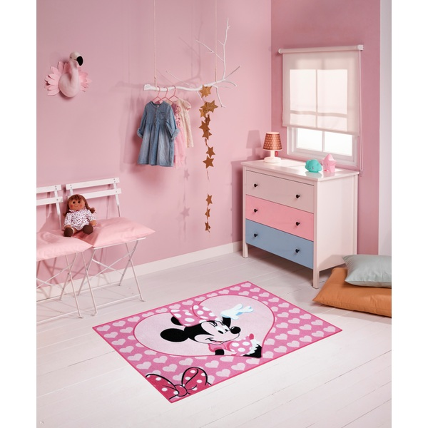 Minnie Mouse - Teppich Hello, pink