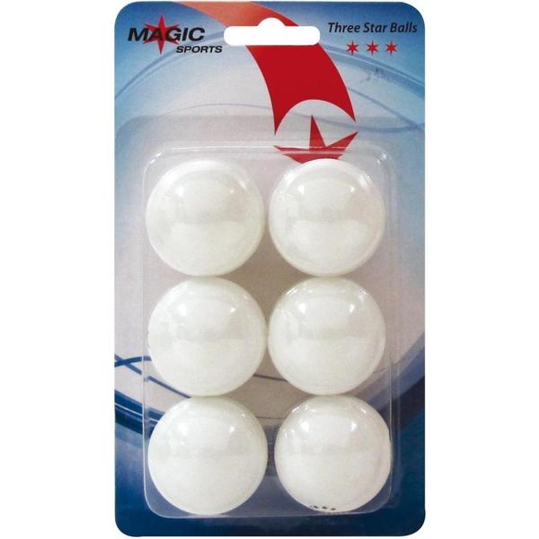Magic Sports - Tischtennis Bälle 3 Stern, 6 Stk.