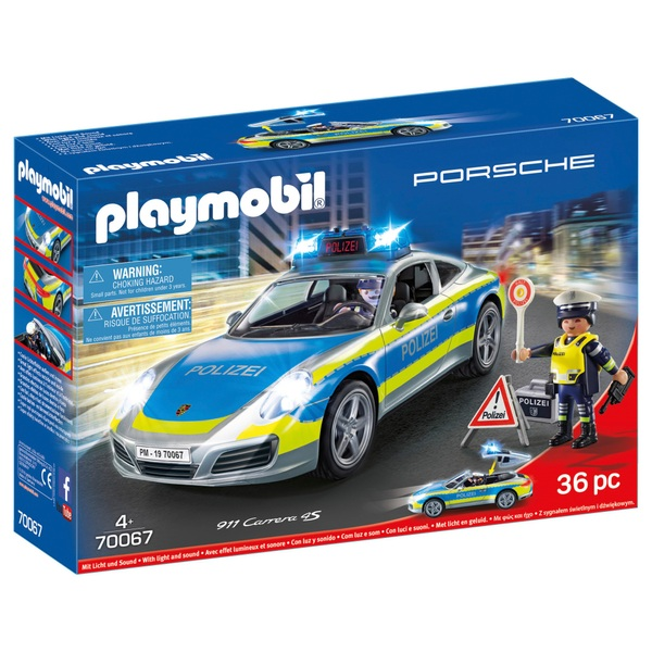 PLAYMOBIL - 70067 Porsche 911 Carrera 4S Polizeiwagen