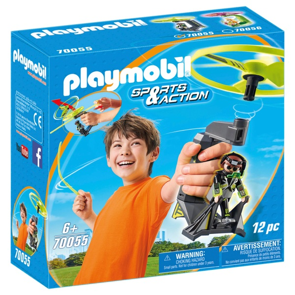 PLAYMOBIL - 70055 Top Agents Pull String Flyer