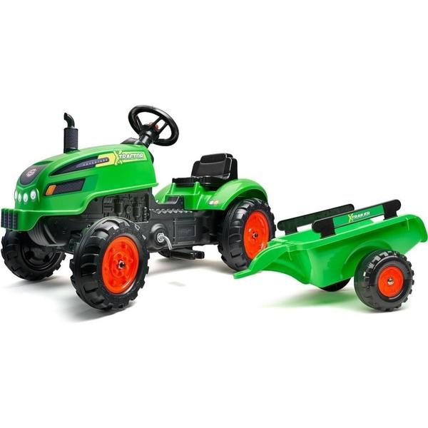 Falk - Traktor mit Anhänger, grün