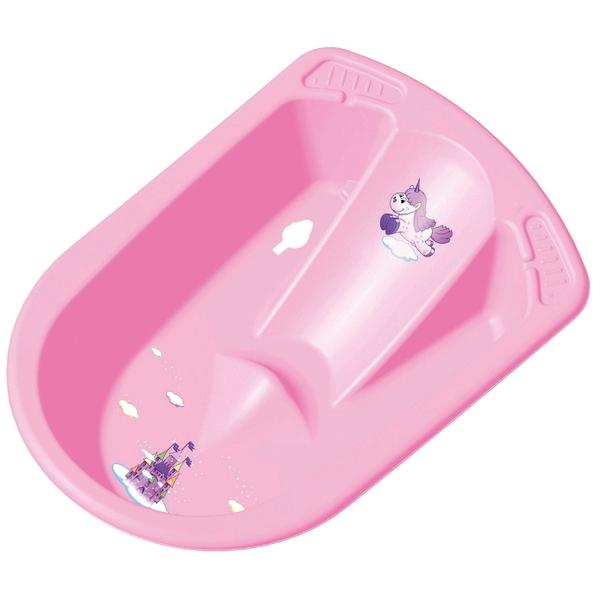 Anatomische Badewanne Einhorn, rosa