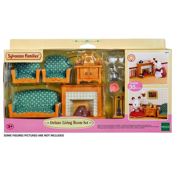 Elegant Sylvanian Families Deluxe Living Room Set