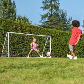 8ft x 5ft Football Goal Post Soccer Net Striker Training Goalie Goalkeeper Sport